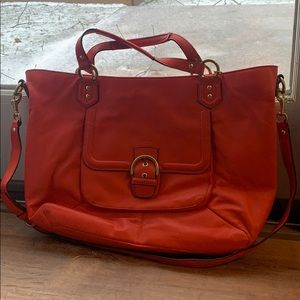 Coach Campbell Leather Izzy Satchel